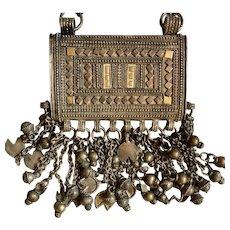 Bedouin Silver Prayer Box Necklace