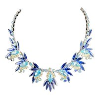 Juliana Sapphire Blue and Aqua Necklace