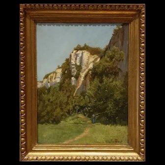 Oil On Canvas Landscape XIX Century Sign G. Paget