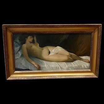 Oil On Canvas nude woman  1930