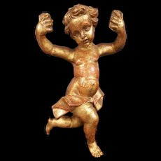 Golded Wooden carved Putto empire period 1820