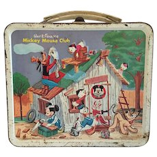Vintage 1963 Mickey Mouse Metal Lunchbox