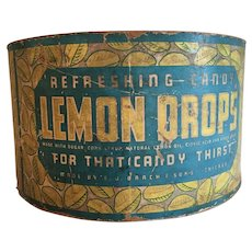 Brach and Sons lemon drop cardboard circular box