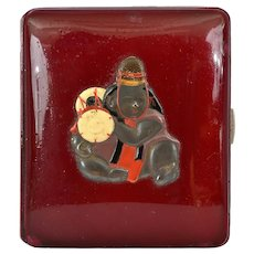Japanese lacquer Cigarette Case Box