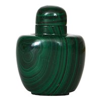 Chinese Malachite Carved Carving Snuff Bottle NOT JADE