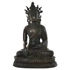 19C Chinese Tibetan Bronze Kwan Guan Quan Yin Buddha Figure Figurine 1078 Gram