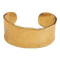 Wide Goldtone Cuff Bracelet
