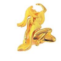 Beautiful Woman Goldtone Brooch