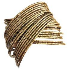 Brass Multi Intertwined Bangle Bracelets