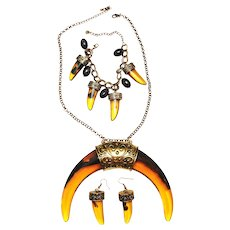 REDUCED - 3 Piece Set - Statement Necklace, Bracelet and Earrings