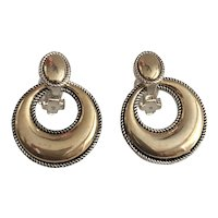 Round Goldtone and Silvertone  Clip On Earrings