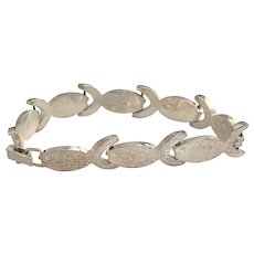REDUCED - Sterling Silver - 925 -Cute Fish Linked Bracelet