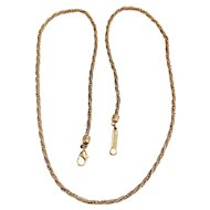 NAPIER signed Very Pretty Goldtone Chain Twist Design Necklace - REDUCED