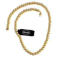 MONET - Beautiful Goldtone Beaded Necklace Strung on a Chain - SALE