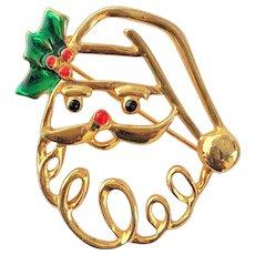 AAI  signed  Santa Clause Pin Brooch