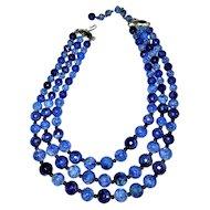 CORO Vintage Timeless  Multi Strand Necklace
