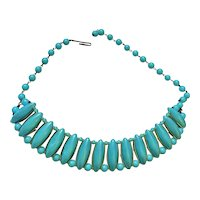 Western Germany  - Pretty Pastel Blue Beaded Necklace
