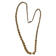 NAPIER signed Stunning Goldtone Bead Necklace strung on a Chain - SALE
