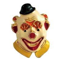 Happy  Clown Face Pin Brooch