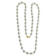 50% OFF - MONET - Stunning Gray Faux Pearl Necklace with Goldtone Beads