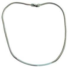SALE  - MONET - Sivertone Herringbone necklace