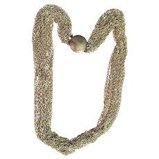 50% OFF - Silvertone Multi Strand Chain Necklace