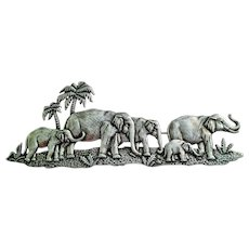 Vintage JJ  Elephants Pin