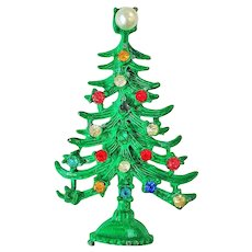 50% OFF - Christmas Tree Pin Brooch with Multi Color Rhinestones