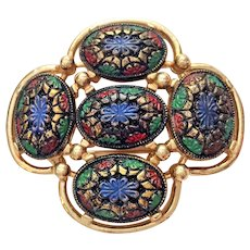 SARAH COVENTRY - Beautiful Goldtone Floral Pin Brooch