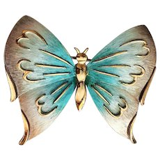 50% OFF - PASTELLI - Goldtone Pastel Butterfly Pin Brooch
