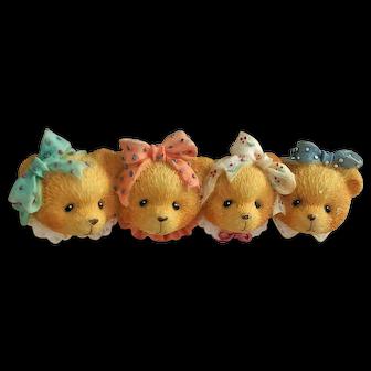 BOYDS BEARS - Four Cute Girl Friends Bears Pin Brooch