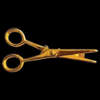 50% OFF - Cute Little Goldtone Scissors Pin Brooch