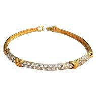 AVON - Goldtone Bracelet  with Clear Rhinestones