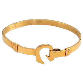 50% OFF - 14 kt Gold Stunning Cuff Bracelet with Secure Clasp