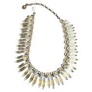 Vintage Lisner Brushed Leaf Drop Necklace