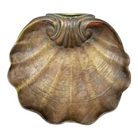 Mid 19th Century French Gilded Cast Iron Scalloped Shell Dish