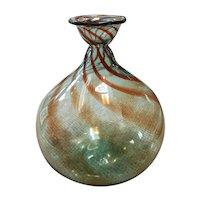 1982 Blenko Glass Balloon Vase by Don Shepherd