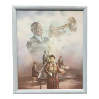 Jazz Music Legends Giclee on Canvas by James Coleman
