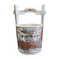 Late 19th Century Japanese Satsuma Porcelain Well Bucket (Meiji Period)