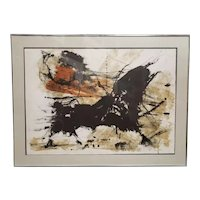 Paul Maxwell - Untitled Abstract Print (#1/300) (American) (1978)