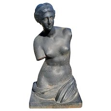 Mid 20th Century Cast Iron Venus de Milo Bust Sculpture Made in Italy