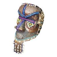Early 20th Century Kuba Bwoom Helmet Mask from the Congo