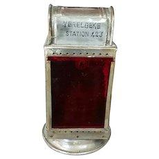 1940's Belgian Merelbeke Station 423 Carbide Railroad Lantern