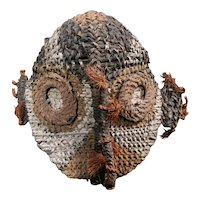 Mid 20th Century Sepik River Region Basketry Gable Mask from Papua New Guinea