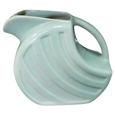 Late 1940's Alamo Pottery Aqua Glaze Pitcher