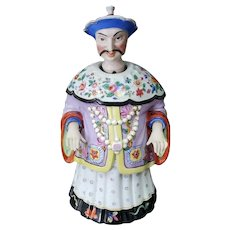 Late 19th Century German Chinoiserie Porcelain Chinese Emperor Yongzheng Nodder