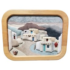 New Mexico Village Mixed Media 3D Art by Anne Phillips (1993)