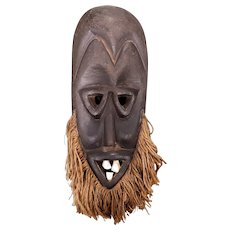 Vintage 3rd Quarter 20th Century Dan Wooden Mask from Liberia