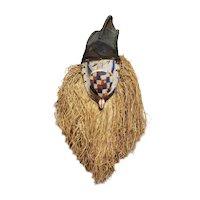 Mid 20th Century Yaka Turtle Spirit Mask from the Congo