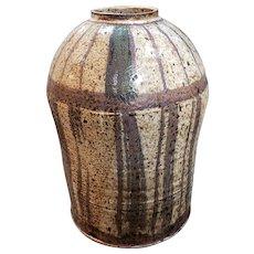"1970's Watt ""Bill"" Dozier Pottery Stoneware Vase (New Orleans)"